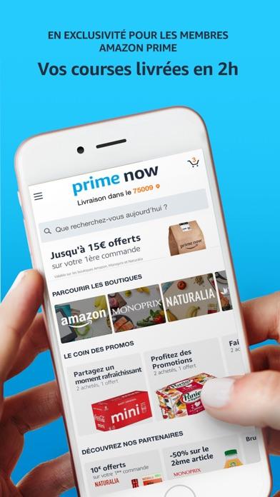 Amazon Prime Now iphone captures décran