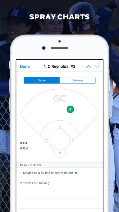 GameChanger Baseball Softball Screenshot