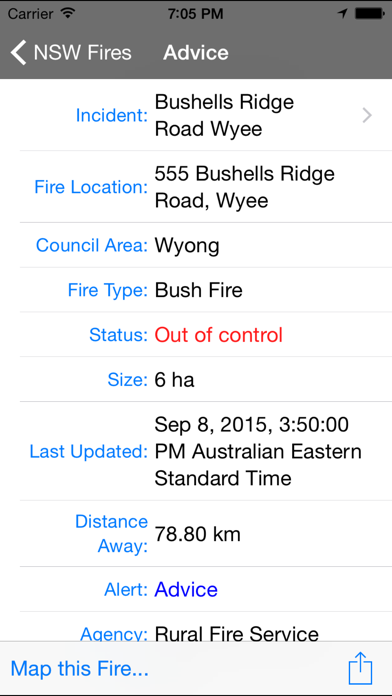 NSW Fires screenshot1