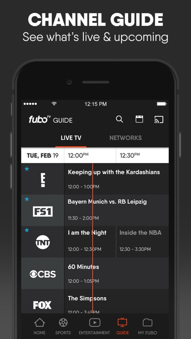 Screenshot for fuboTV: Watch Live Sports & TV in United States App Store