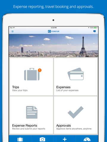 Screenshot of SAP Concur
