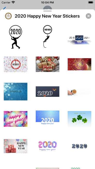 2020 Happy New Year Stickers screenshot 7