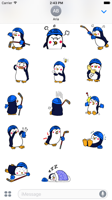 Penguins Love Ice Hockey Icon screenshot 4