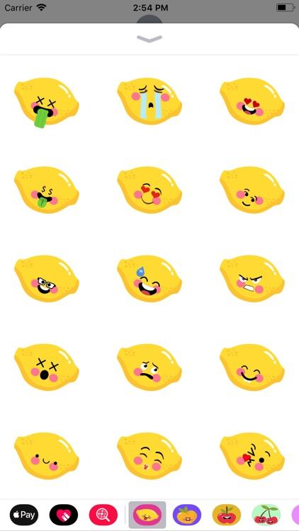 mango funny emoji sticker