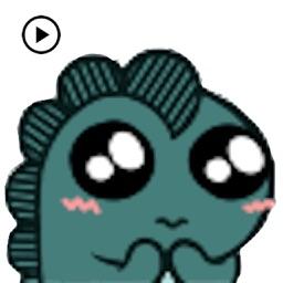 Animated Tiny Blue Dragon