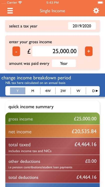 UK Tax Calculators 2019-2020 screenshot-0