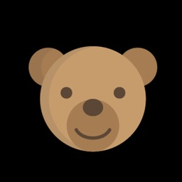 Brown Bear Smile Sticker