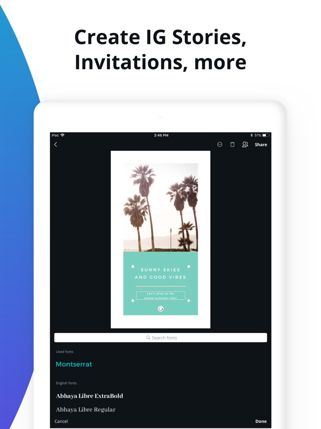 Canva: Logo & invitation maker Screenshot