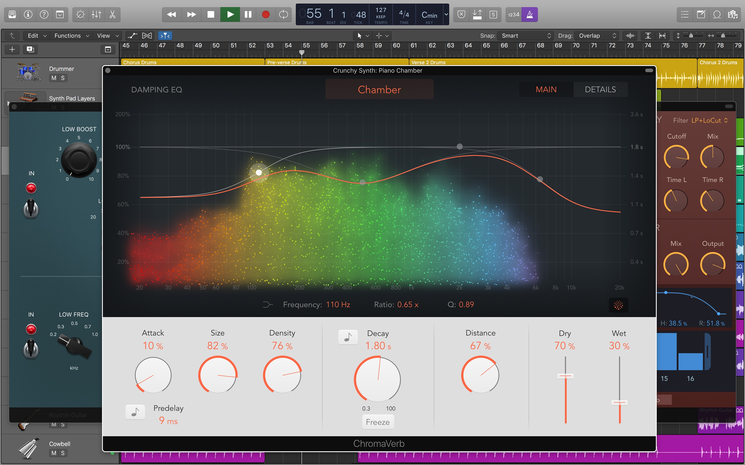 Screenshot do app Logic Pro