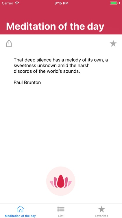 Meditation of the day