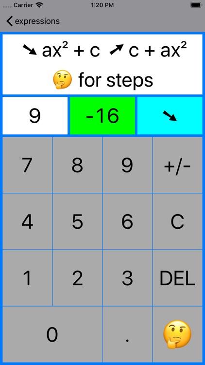Quadratic Factoring screenshot-7