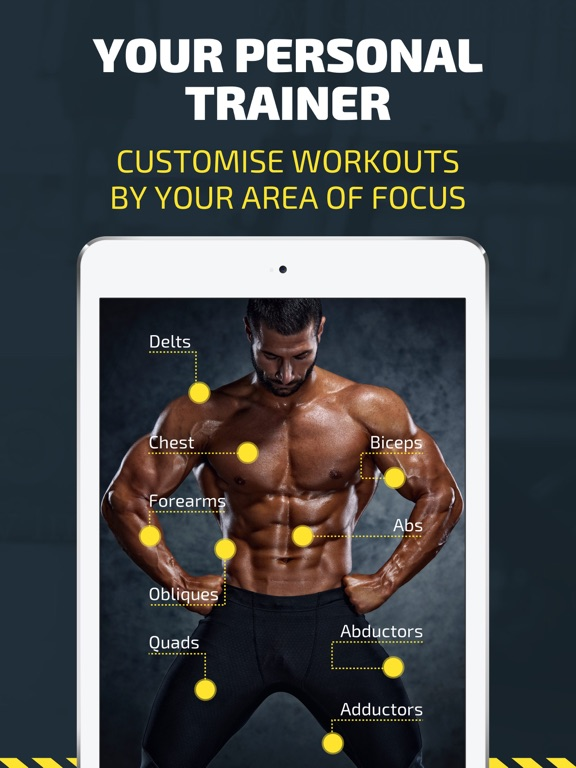 Workout: Gym routines tracker & trainer plan, free screenshot