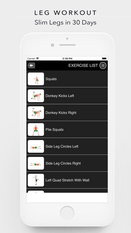 Leg, Thigh, Quad Home Workouts screenshot-4