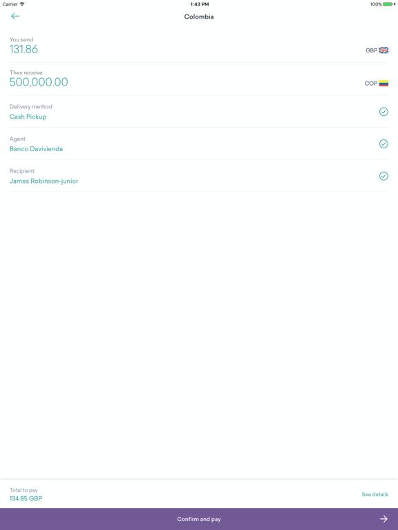 WorldRemit screenshot