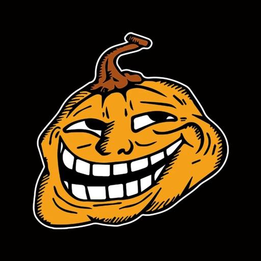 Halloween Mem emoji - pumpkin