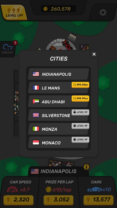 Screenshot for Racing Tycoon - Idle Game in United States App Store