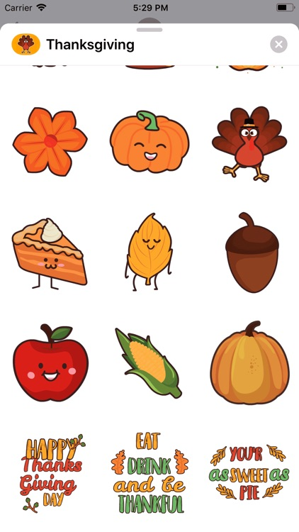 Thanksgiving Day Stickers * screenshot-5
