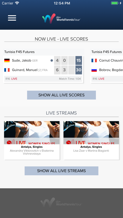ITF Live Scores screenshot one