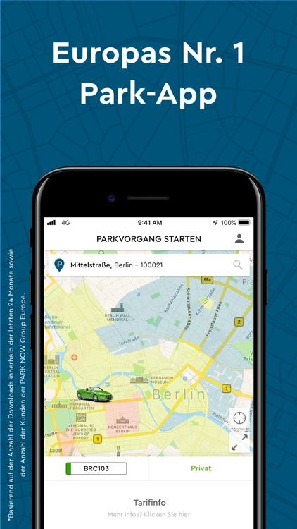 PARK NOW Europas Nr.1 Park-App screenshot-0