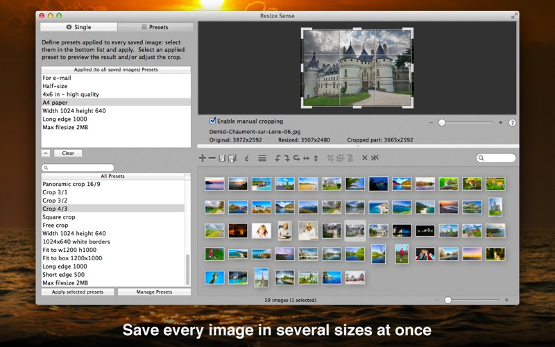 Resize Sense - Bulk Processing Screenshots