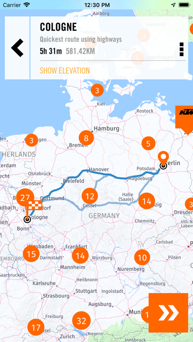 Screenshot for KTM MY RIDE Navigation in Sweden App Store