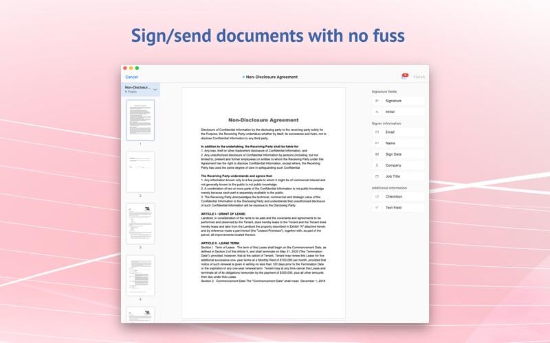 电子签名应用 - Zoho Sign for Mac