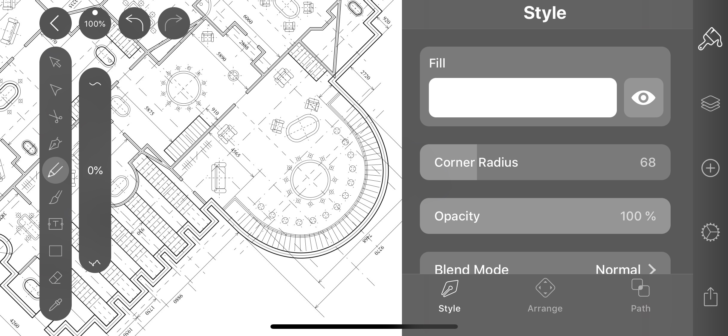 Screenshot do app Vectornator X: Design Software