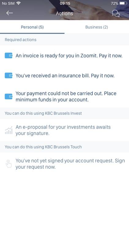 KBC Brussels Mobile screenshot-5