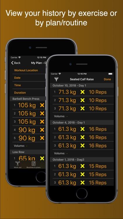 Gym Horn: Weight Lifting Log screenshot-7