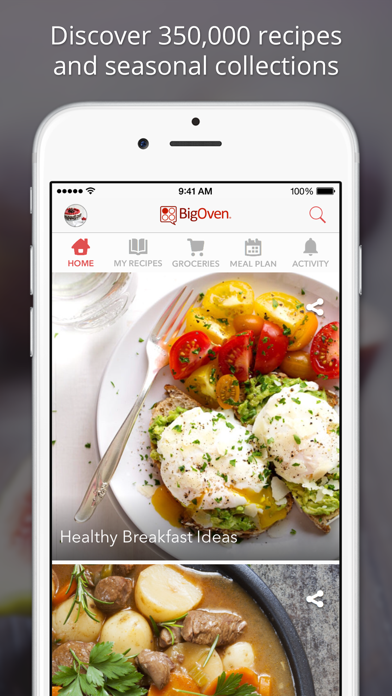 Screenshot for BigOven Recipes & Meal Planner in United Kingdom App Store