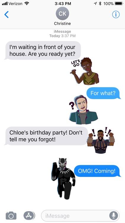 Marvel Stickers: Black Panther screenshot-4