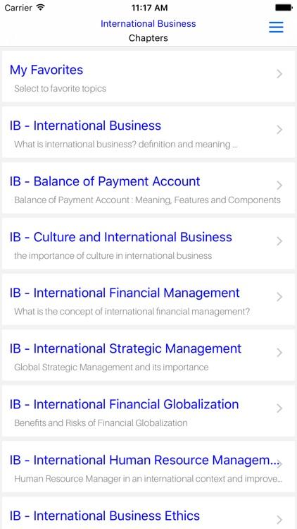 MBA IB- International Business screenshot-4