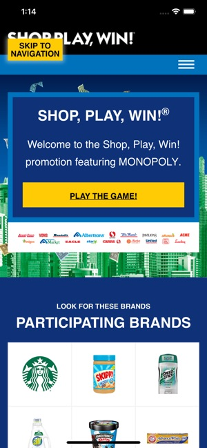 graphic relating to Albertsons Monopoly Game Board Printable named Retail store, Perform, Gain!® MONOPOLY upon the Application Retail outlet