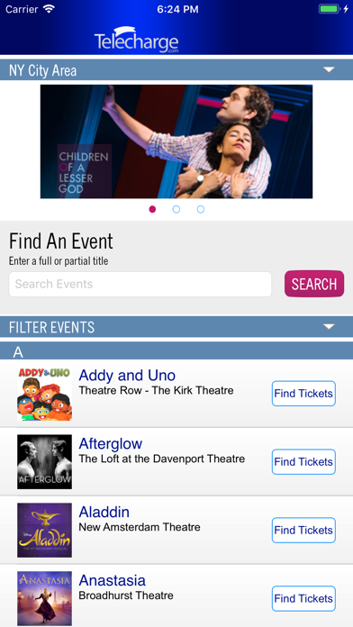 Telecharge Broadway Tickets screenshot one