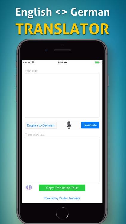 English to German Translator!