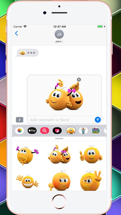 Kolobanga Sticker For iMessage screenshot-5