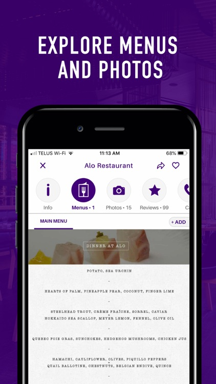 Sirved - Restaurant Menus