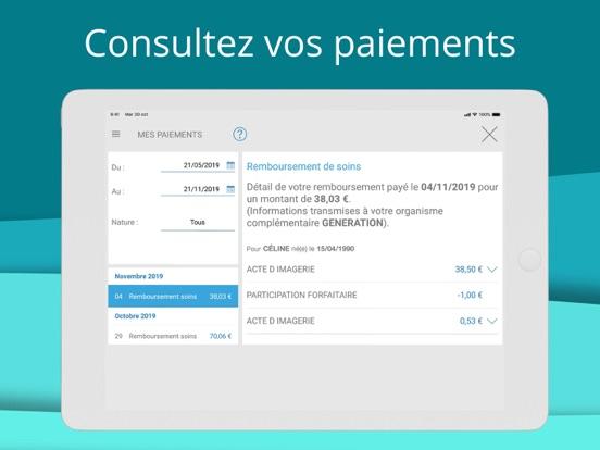 ameli, l'Assurance Maladie iPad captures décran