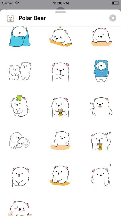 Polar Bear Animated Stickers