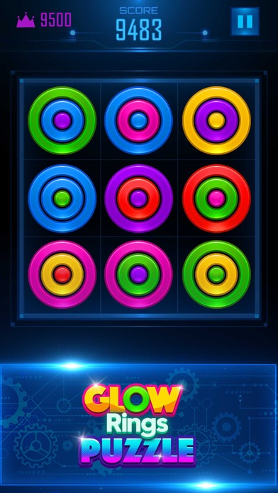 Glow Rings Puzzle screenshot one