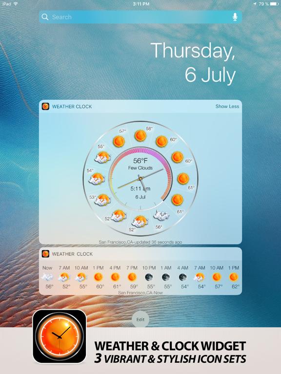 Weather & clock free widget screenshot