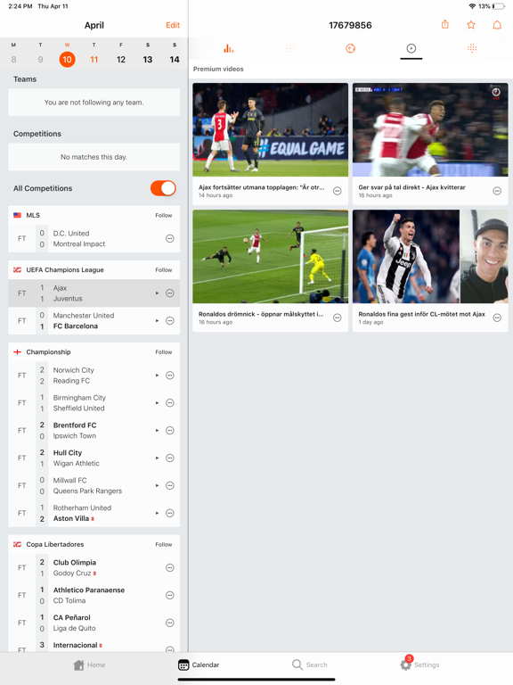 Forza Football - Soccer live scores, highlights screenshot