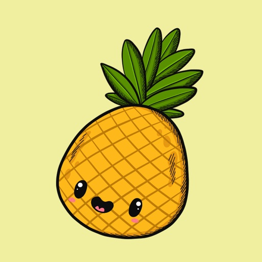 Pineapple Fruity Stickers