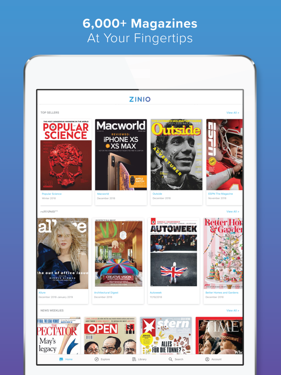 ZINIO - Magazine Newsstand by Zinio LLC (iOS, United States