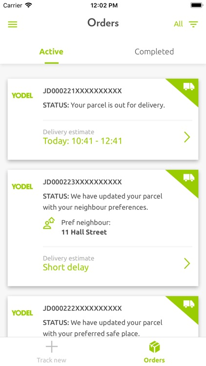 Yodel parcel manager screenshot-4