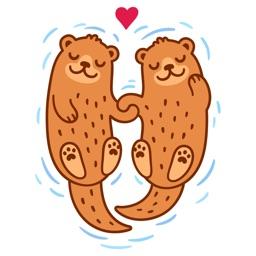 Lovely Otter Friends