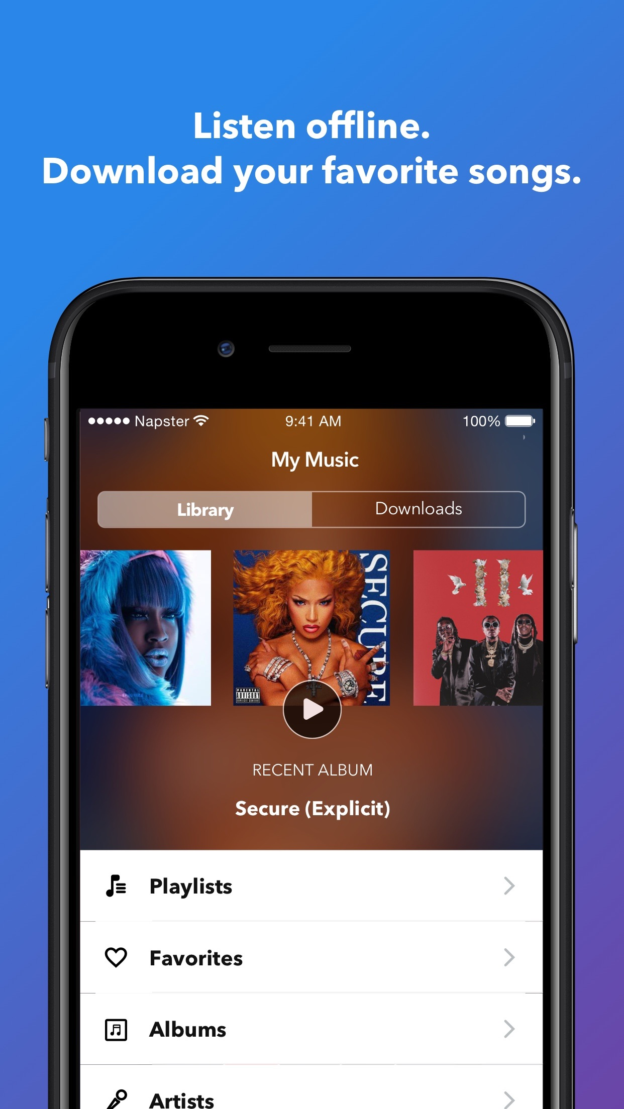 Napster - Top Music & Radio Screenshot