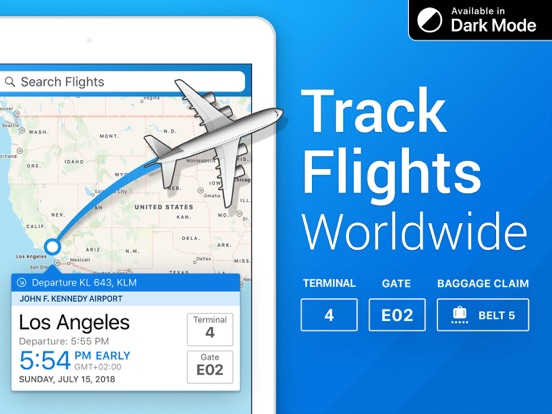 Flight+ - Track Live Flights - Flight Board screenshot