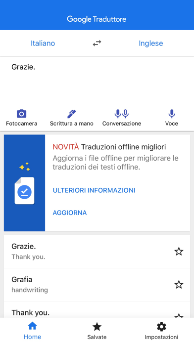 Screenshot for Google Traduttore in Italy App Store