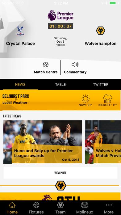 Wolves App screenshot one